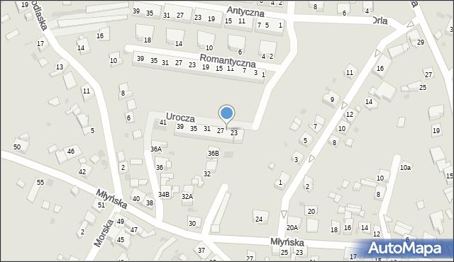 Ruda Śląska, Urocza, 25, mapa Rudy Śląskiej