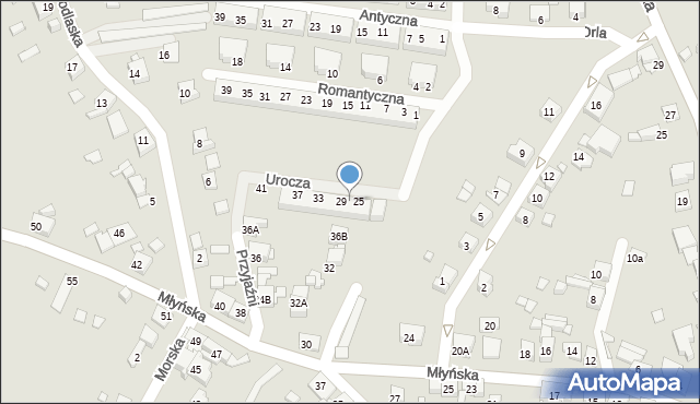 Ruda Śląska, Urocza, 27, mapa Rudy Śląskiej
