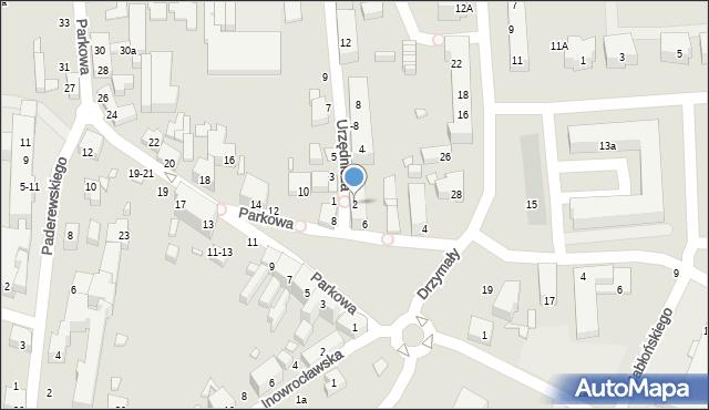 Toruń, Urzędnicza, 2, mapa Torunia