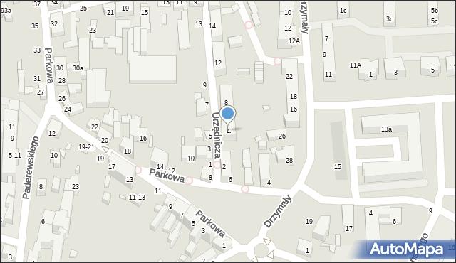 Toruń, Urzędnicza, 4, mapa Torunia