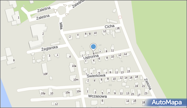 Grudziądz, Ustronna, 5, mapa Grudziądza