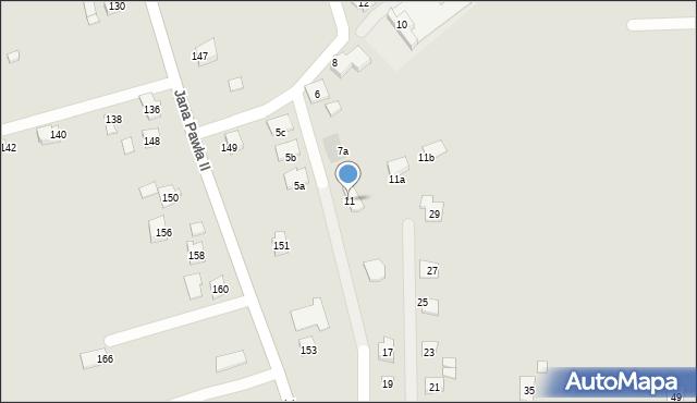 Rzeszów, Ustronna, 11, mapa Rzeszów