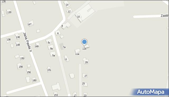 Rzeszów, Ustronna, 11b, mapa Rzeszów