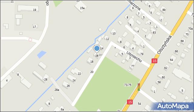 Toruń, Uśmiechu, 16, mapa Torunia