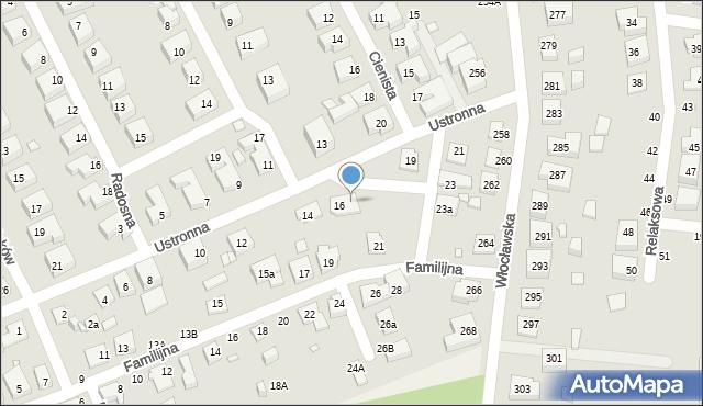 Toruń, Ustronna, 16a, mapa Torunia