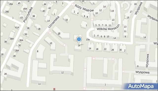 Warszawa, Uznamska, 14, mapa Warszawy