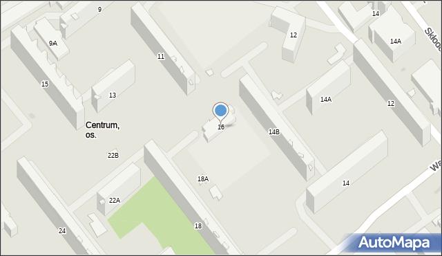 Białystok, Waszyngtona Jerzego, 16, mapa Białegostoku