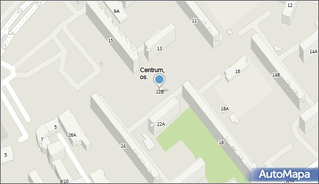 Białystok, Waszyngtona Jerzego, 22B, mapa Białegostoku
