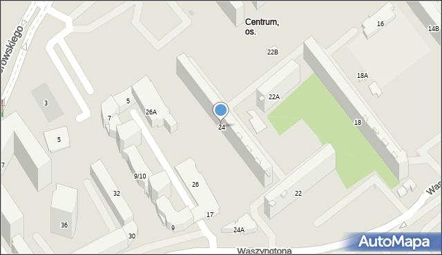 Białystok, Waszyngtona Jerzego, 24, mapa Białegostoku