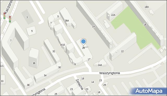 Białystok, Waszyngtona Jerzego, 26, mapa Białegostoku