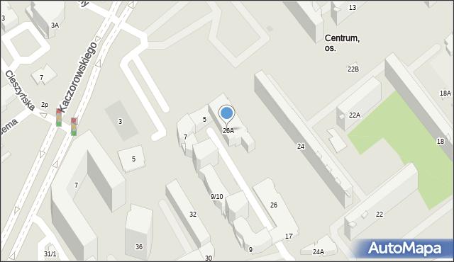 Białystok, Waszyngtona Jerzego, 26A, mapa Białegostoku