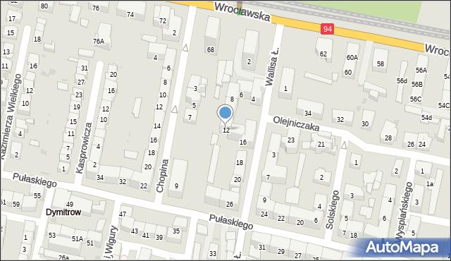 Bytom, Wallisa Łukasza, 12, mapa Bytomia