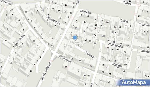 Bytom, Wałowa, 7, mapa Bytomia