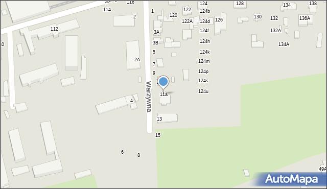 Chełm, Warzywna, 11a, mapa Chełma