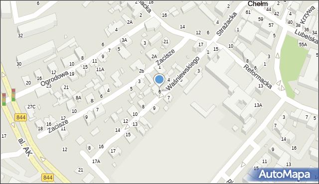 Chełm, Waśniewskiego Zenona, 6, mapa Chełma