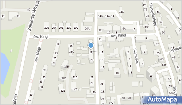 Chorzów, Wandy, 18, mapa Chorzów