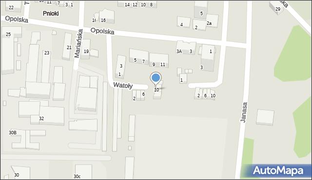 Chorzów, Watoły Marcina, 10, mapa Chorzów