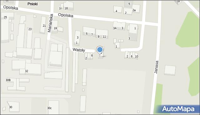 Chorzów, Watoły Marcina, 14, mapa Chorzów