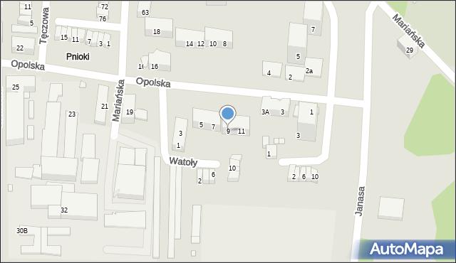 Chorzów, Watoły Marcina, 9, mapa Chorzów