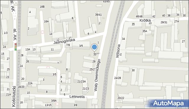 Częstochowa, Wały Józefa Dwernickiego, gen., 33, mapa Częstochowy