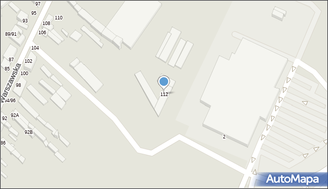 Częstochowa, Warszawska, 112, mapa Częstochowy