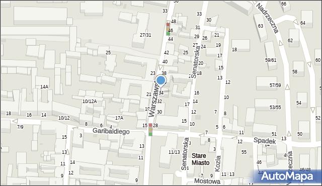 Częstochowa, Warszawska, 34, mapa Częstochowy