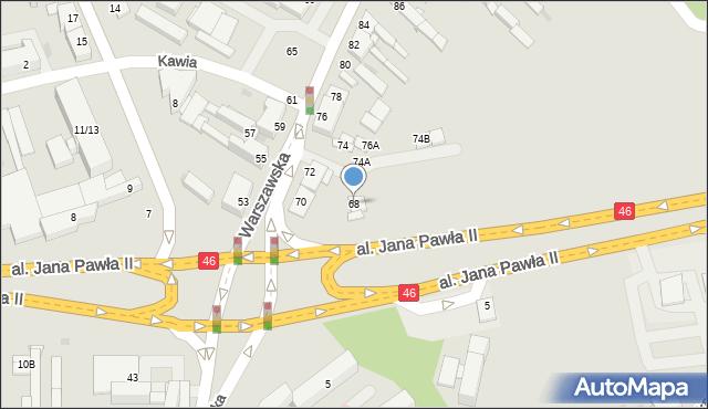 Częstochowa, Warszawska, 68, mapa Częstochowy