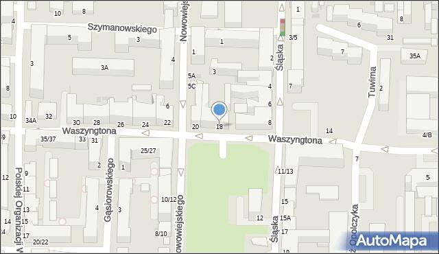 Częstochowa, Waszyngtona, 18, mapa Częstochowy