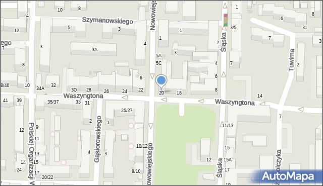 Częstochowa, Waszyngtona, 20, mapa Częstochowy