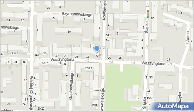 Częstochowa, Waszyngtona, 22, mapa Częstochowy