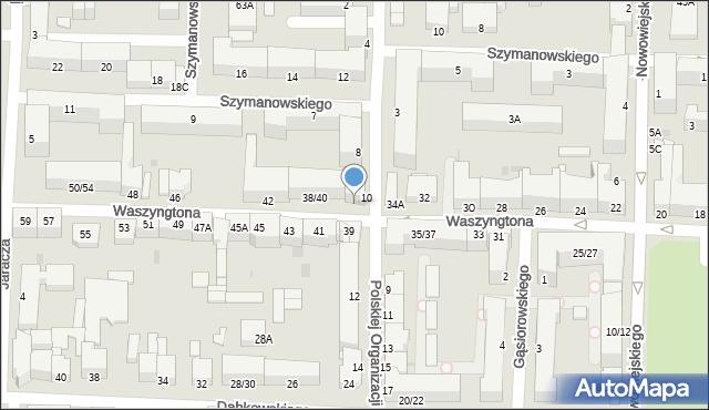 Częstochowa, Waszyngtona, 36, mapa Częstochowy