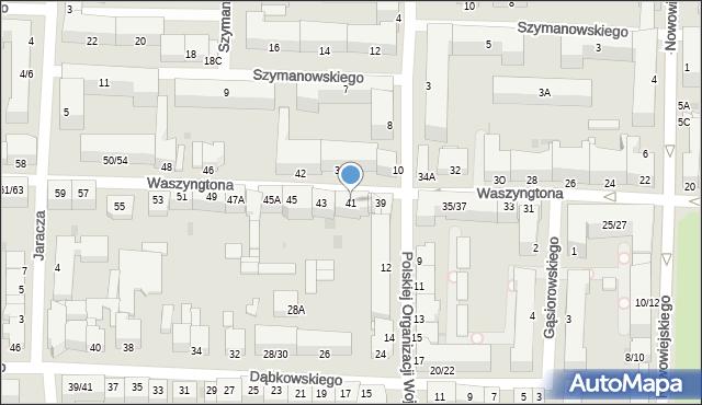Częstochowa, Waszyngtona, 41, mapa Częstochowy
