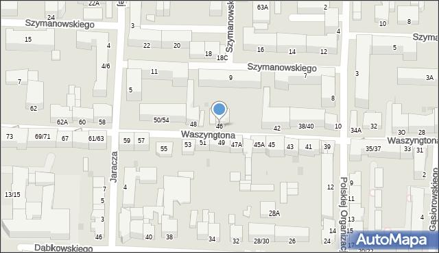 Częstochowa, Waszyngtona, 46, mapa Częstochowy