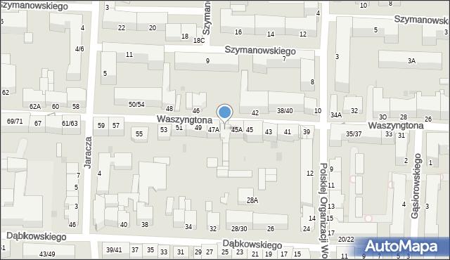 Częstochowa, Waszyngtona, 47, mapa Częstochowy