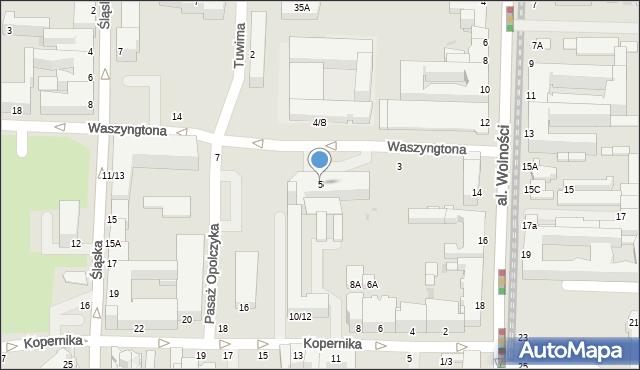 Częstochowa, Waszyngtona, 5, mapa Częstochowy