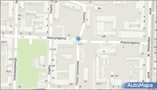 Częstochowa, Waszyngtona, 7, mapa Częstochowy