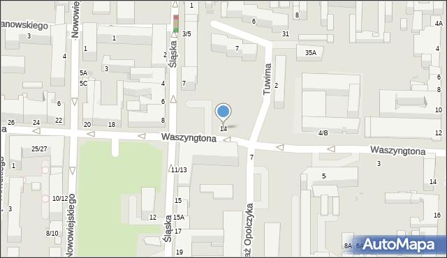 Częstochowa, Waszyngtona Jerzego, 14, mapa Częstochowy