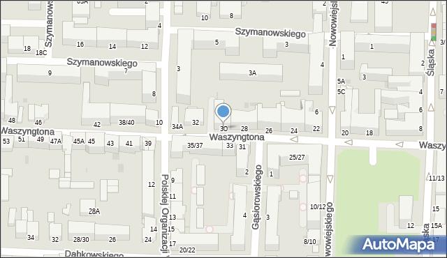 Częstochowa, Waszyngtona Jerzego, 30, mapa Częstochowy