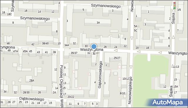 Częstochowa, Waszyngtona Jerzego, 31, mapa Częstochowy