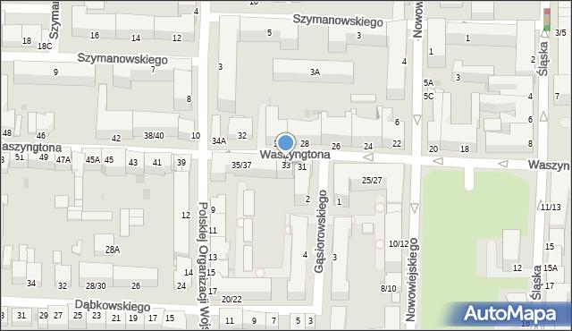 Częstochowa, Waszyngtona Jerzego, 33, mapa Częstochowy