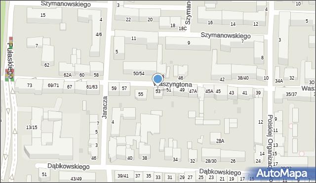Częstochowa, Waszyngtona Jerzego, 53, mapa Częstochowy