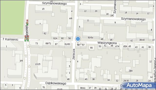 Częstochowa, Waszyngtona Jerzego, 59, mapa Częstochowy