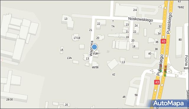 Częstochowa, Wagnera Ryszarda, 16, mapa Częstochowy