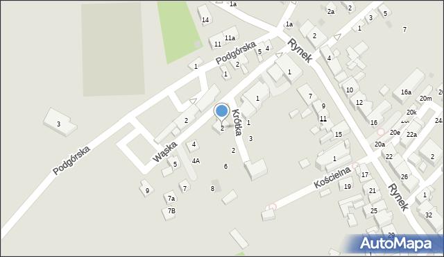 Dobczyce, Wąska, 2, mapa Dobczyce