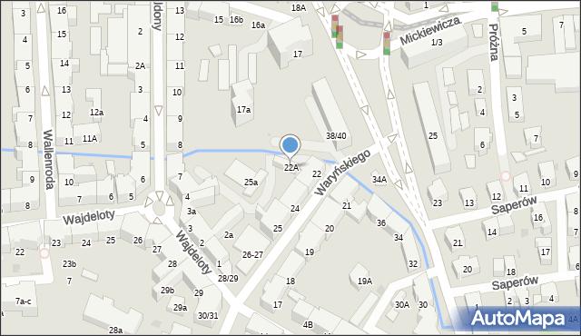 Gdańsk, Waryńskiego Ludwika, 22A, mapa Gdańska