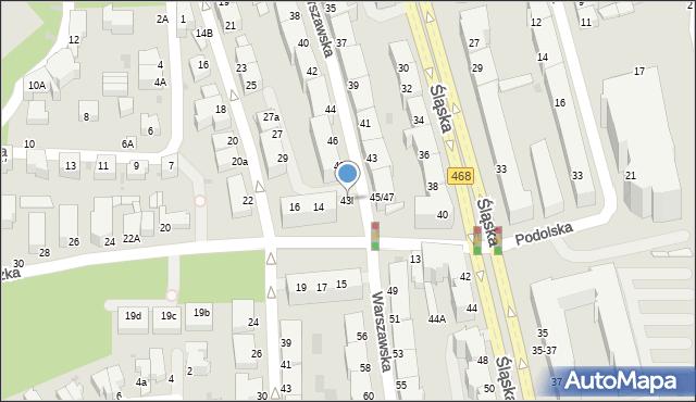 Gdynia, Warszawska, 43l, mapa Gdyni
