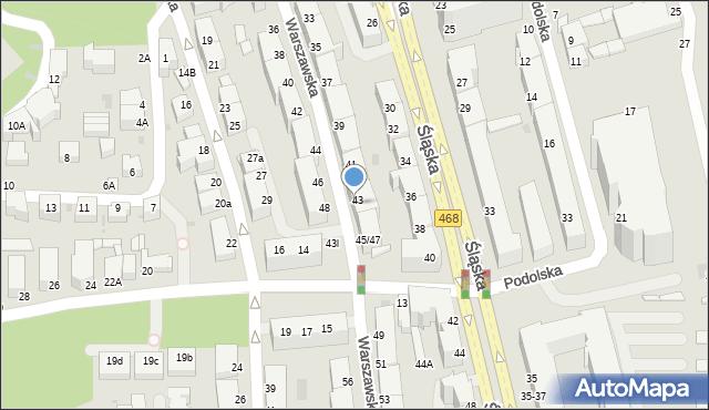 Gdynia, Warszawska, 45, mapa Gdyni
