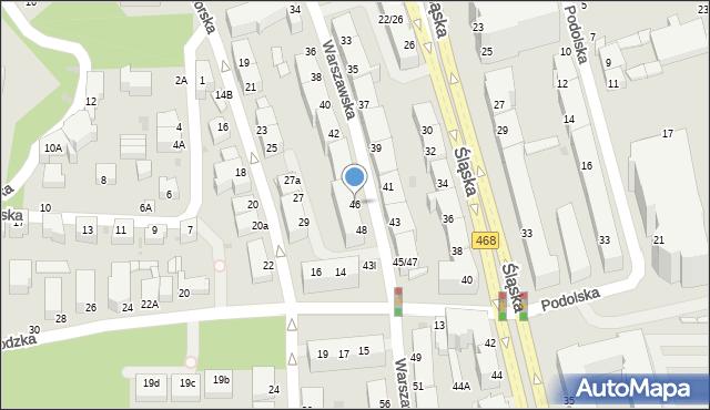Gdynia, Warszawska, 46, mapa Gdyni