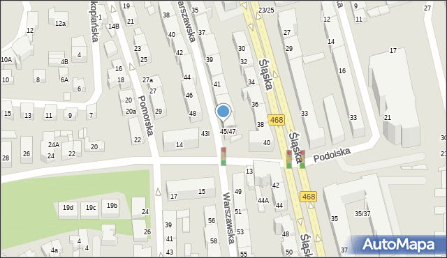 Gdynia, Warszawska, 47, mapa Gdyni