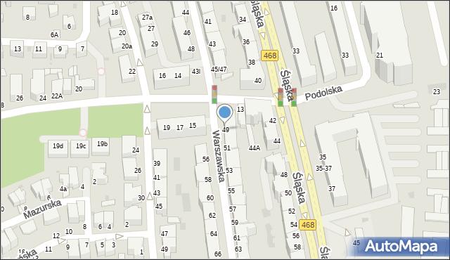 Gdynia, Warszawska, 49, mapa Gdyni